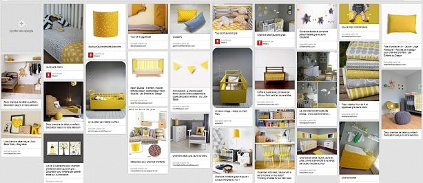 une chambre de b b jaune grise et blanche les. Black Bedroom Furniture Sets. Home Design Ideas