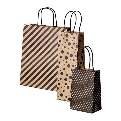 De jolis emballages cadeaux in black &amp&#x3B; craft!