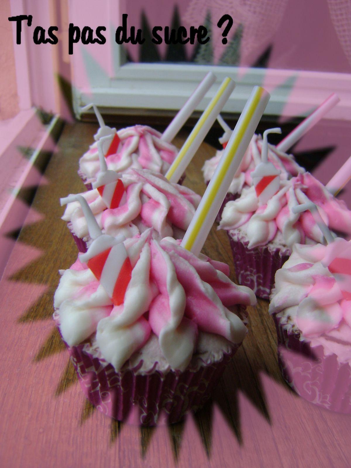 Cupcakes &quot&#x3B;Cherry coke&quot&#x3B; !