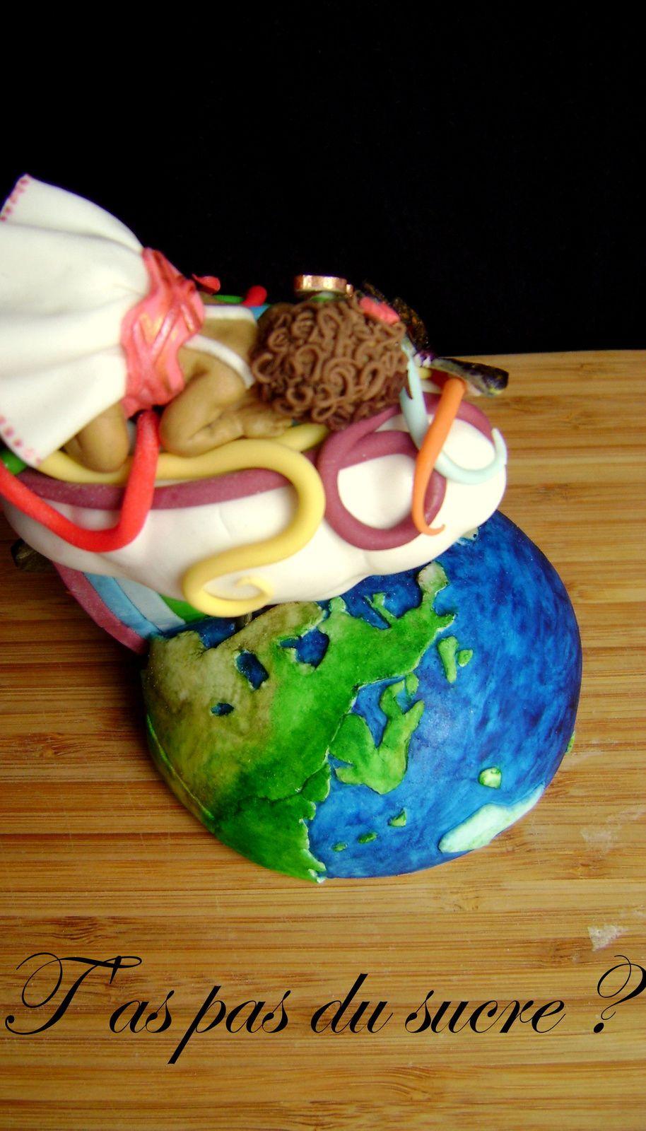 Figurine sucrée &quot&#x3B;bébé planète&quot&#x3B;