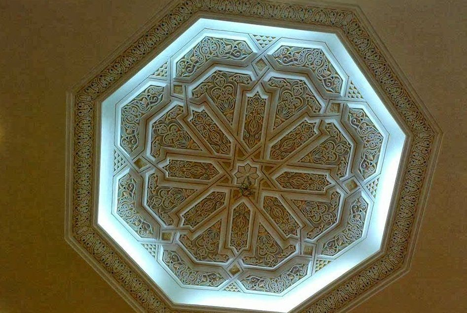 Faux plafond design moderne 2014 artisanat marocain for Decoration de plafond en platre