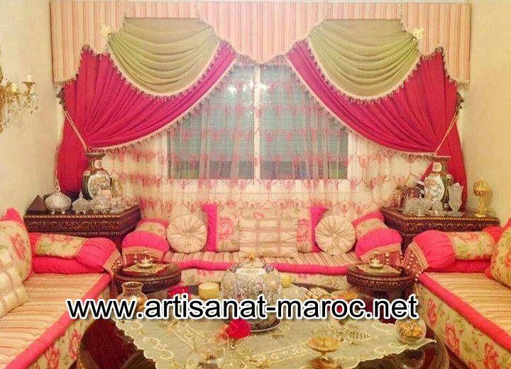 Rideaux marocains pour salon marocain moderne - Artisanat ...