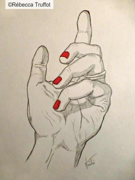 Crayon, encre rouge - Format A5