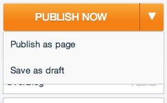 How to publish a page