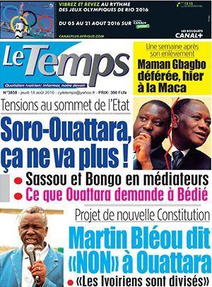 Sorrow Guillautine et Dramane Ouattara a couteaux tires!!!!!!
