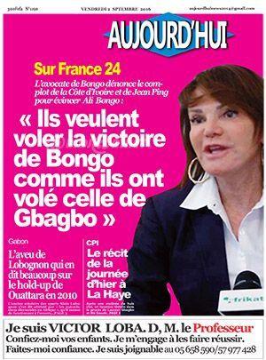 « Ils veulent voler la victoire de Bongo comme ils ont volé celle de Gbagbo »