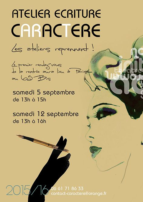 ATELIER ECRITURE PARIS SEPTEMBRE