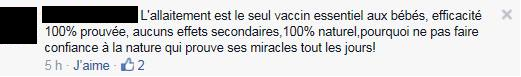 Allaitement VS Vaccinations: encore un faux dilemme!