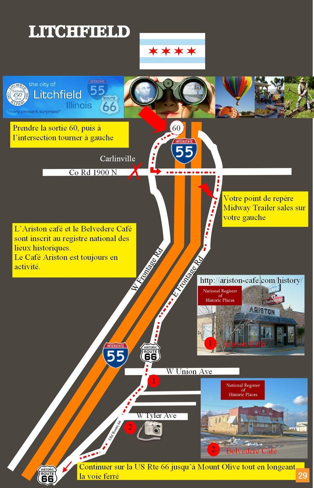 Guide Route 66, le parcours de légende     (ILLINOIS)