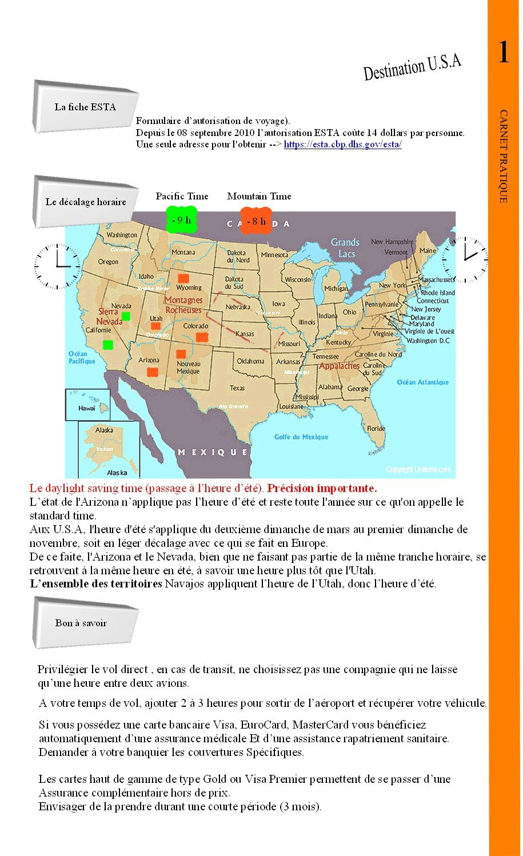 Carnet de route -  Les trésors de l'Ouest Américain