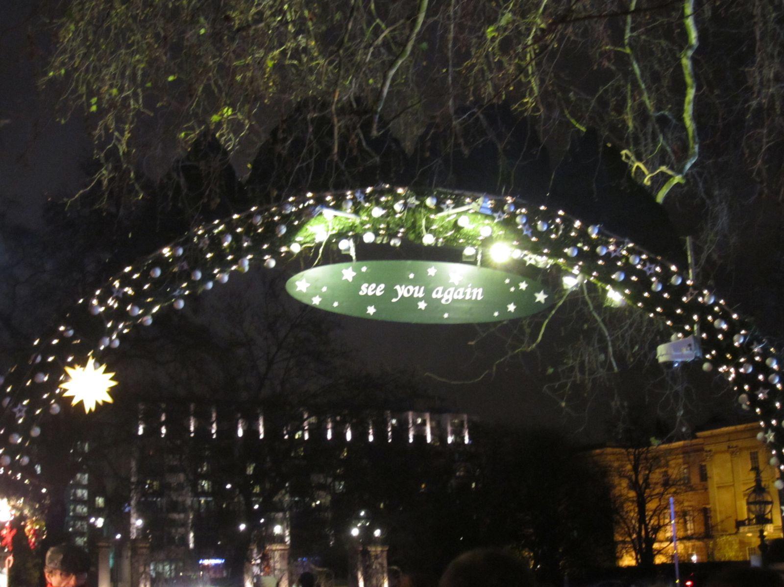 London for Christmas, actually.