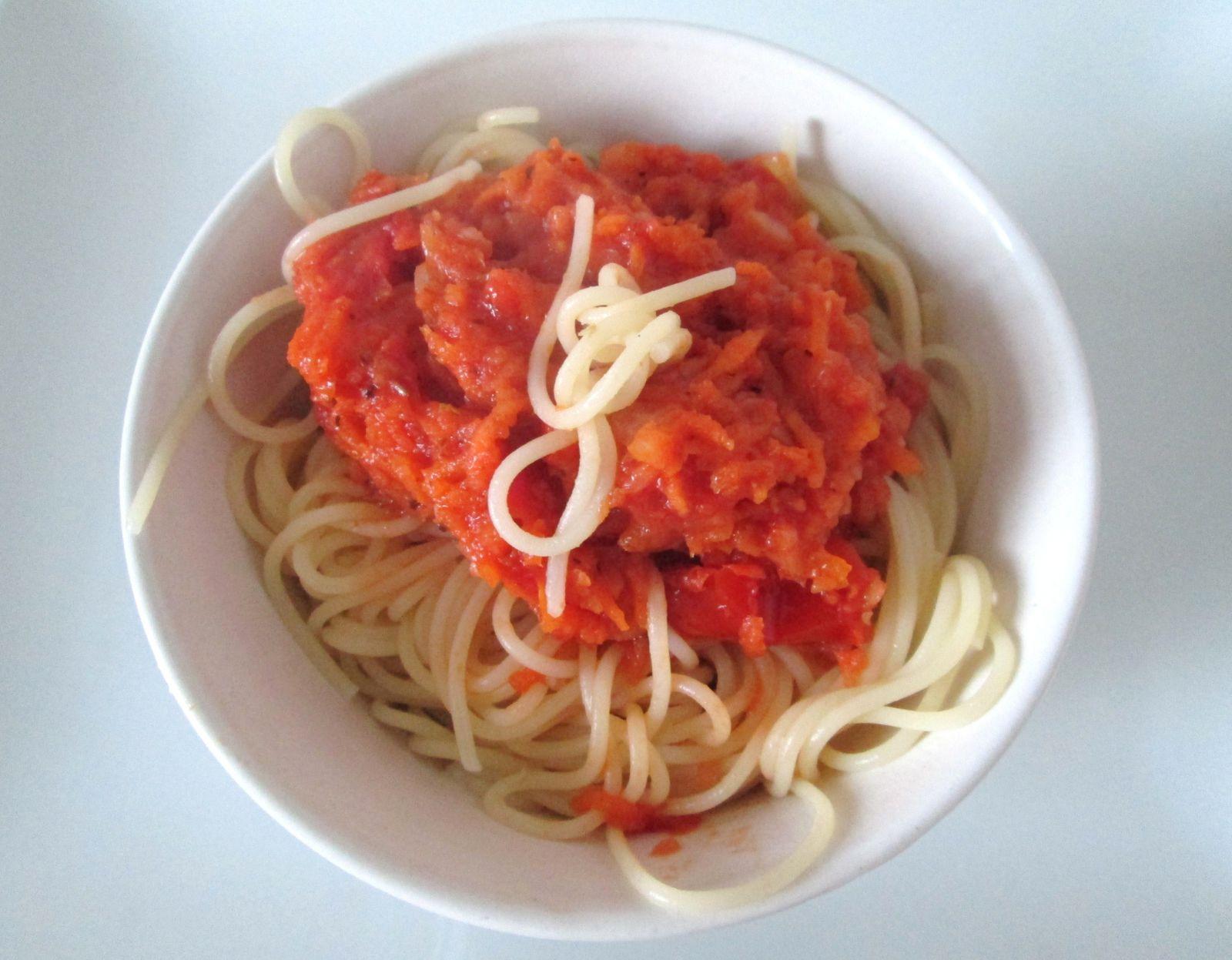 Spaghettis en sauce