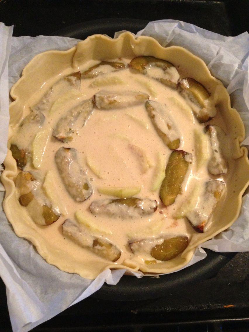 Tarte normande pommes-cannelle