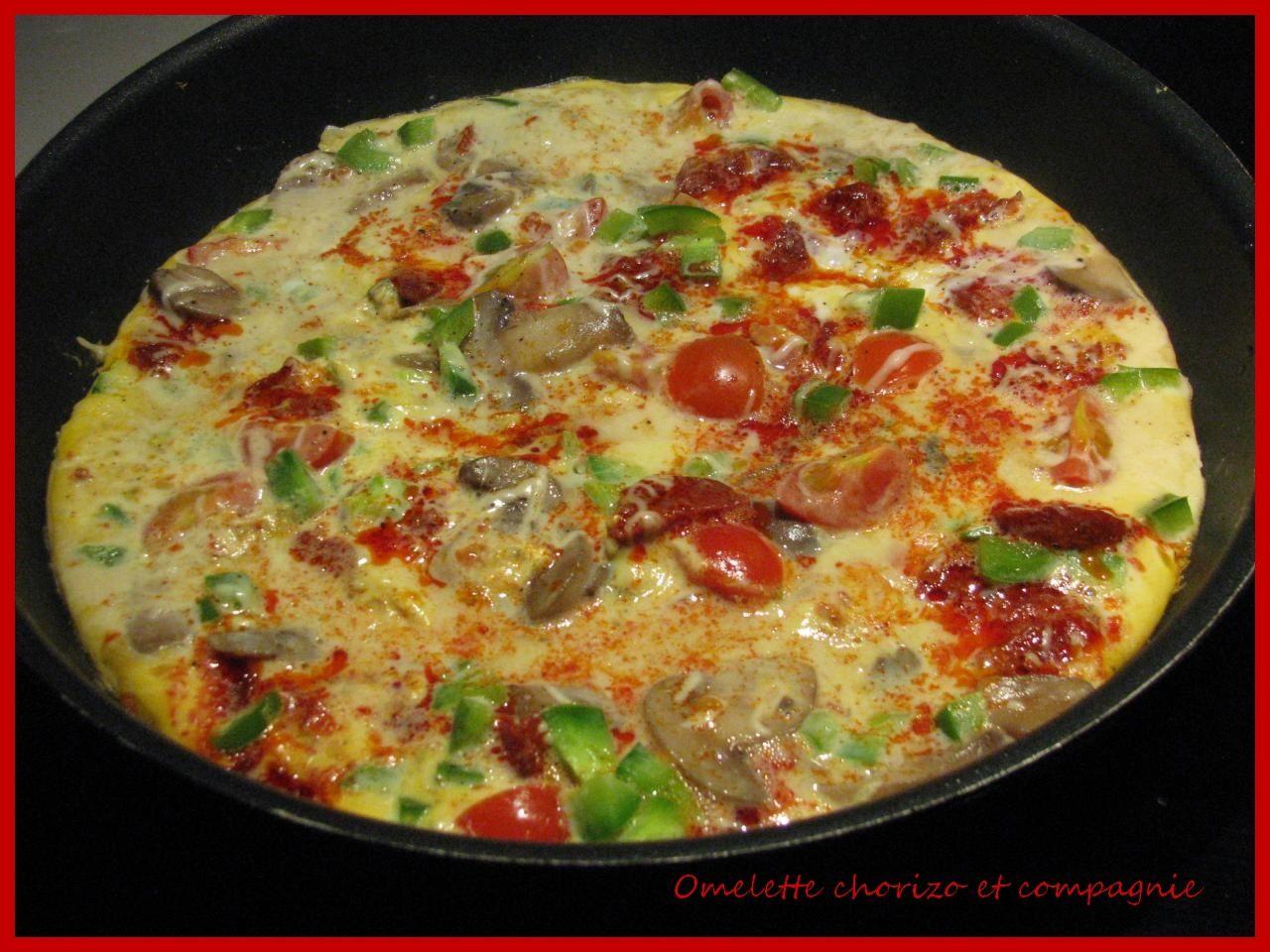 Omelette chorizo et compagnie