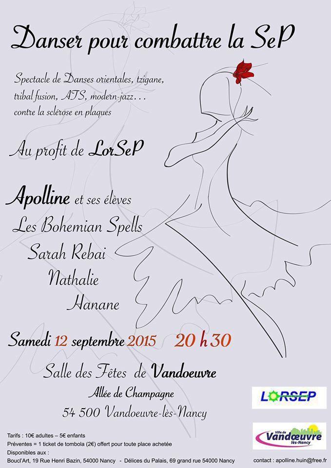 VANDOEUVRE - SPECTACLE - DANSER POUR COMBATTRE LA SEP - Samedi 12 Septembre 2015 - 20h30
