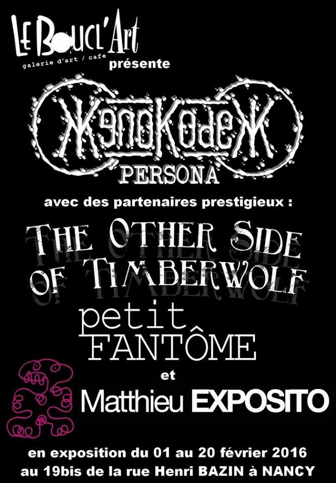 DEVERNISSAGE - XenoKodex, Matthieu Exposito, Petit Fantôme & The Other Side Of Timberwolf - Vendredi 19 Février 2016 à partir de 19h00 ...