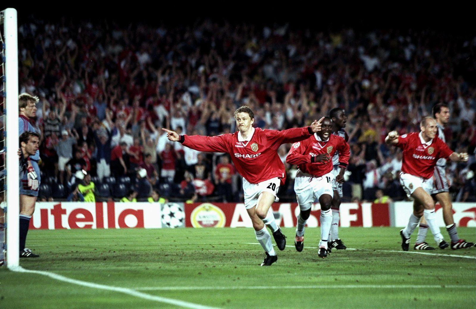 Ole Gunnar Solskjær, we miss you ! ( But victorieux à la 93e, finale de la Ligue des Champions 1999 face au Bayern Munich).