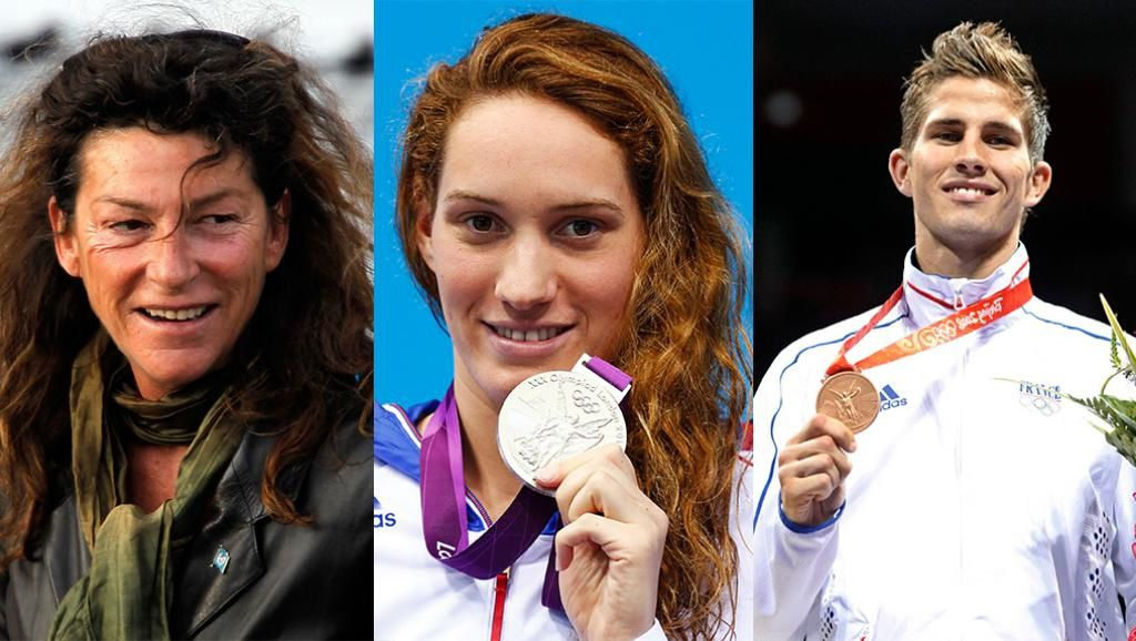 Florence Arthaud (57 ans), Camille Muffat (25 ans), Alexis vastine (28 ans)