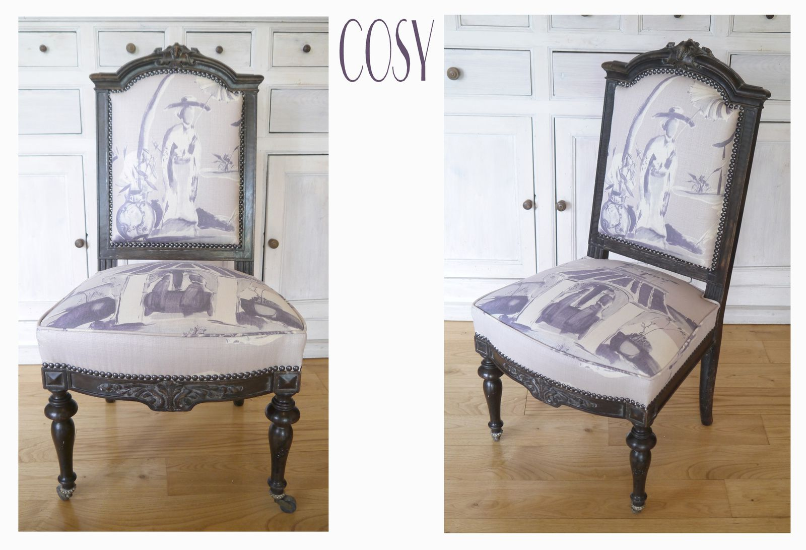 chauffeuse napoleon iii tissu canovas. Black Bedroom Furniture Sets. Home Design Ideas