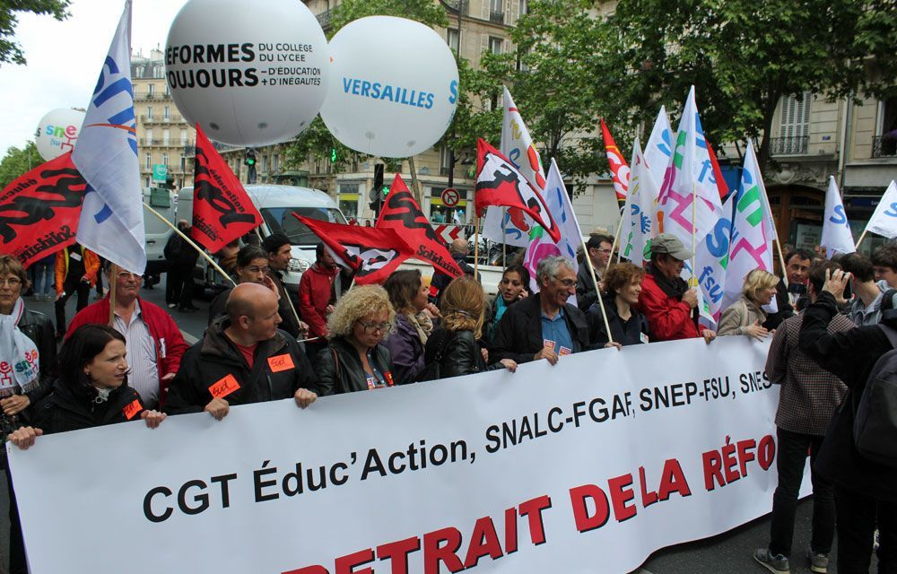 Education : calendrier d'actions contre la réforme des collèges