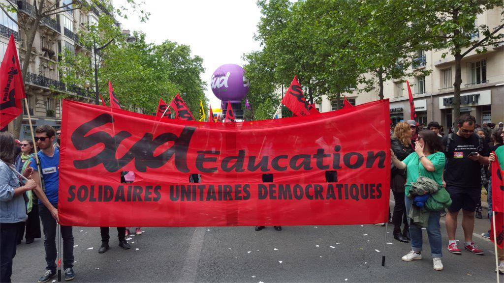 Education et loi travail : tract d'appel de SUD éducation 94 au 2 et 14 juin