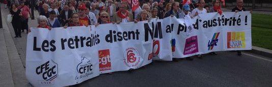 Retraité-e-s : manifestation jeudi 30 mars 14H Place de Roubaix Gare du nord