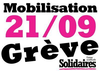 Loi travail : le 21 septembre grève et manif 14H Montaparnnasse