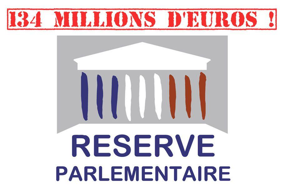 Réserve parlementaire de 134M € pour qui ?