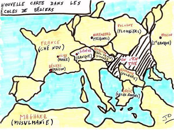 La nouvelle carte dans les écoles de Béziers