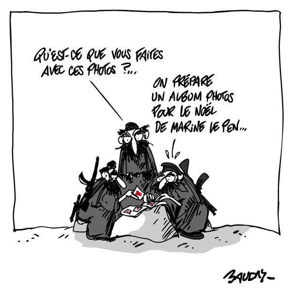C'est Noël pour Daesh et Le Pen