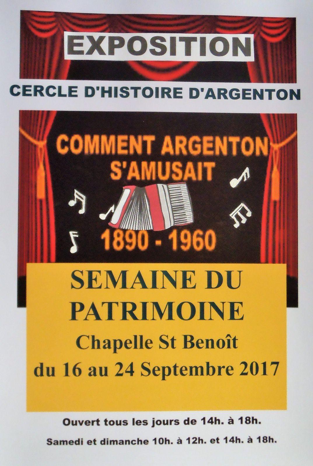 Les divertissements à Argenton         ( 1890-1960 )