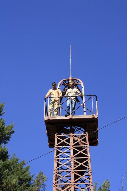 Slava et Vincent en haut de la Tour Eiffel de Sucré