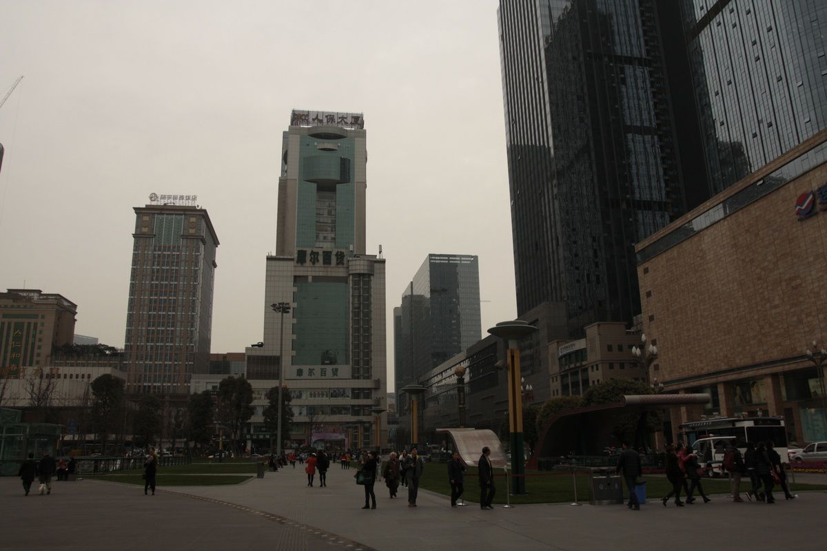 La place centrale de Chengdu