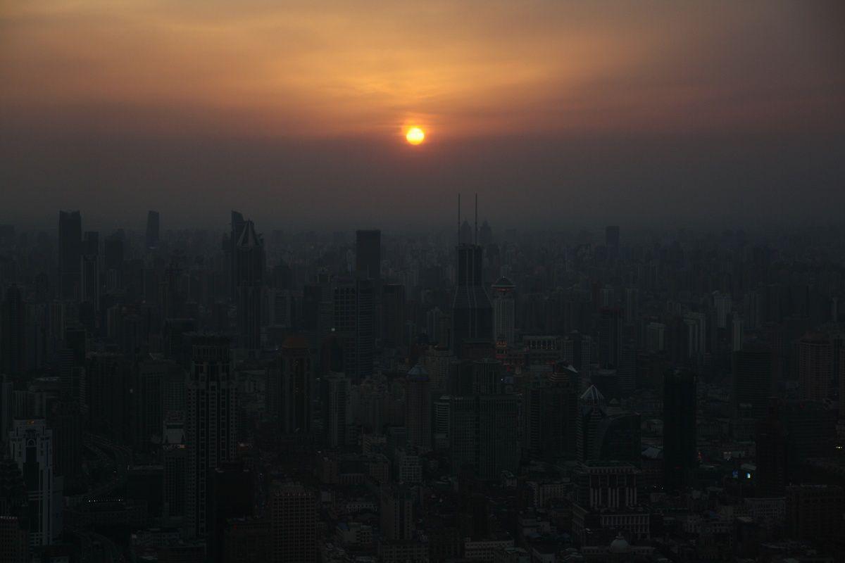 Coucher du soleil au 87ème étage