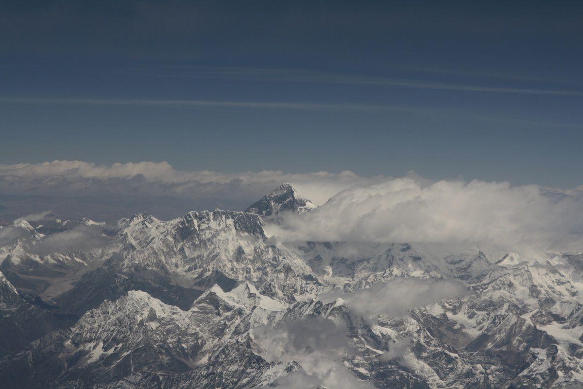 Le mont Everest et vue générale depuis l'avion
