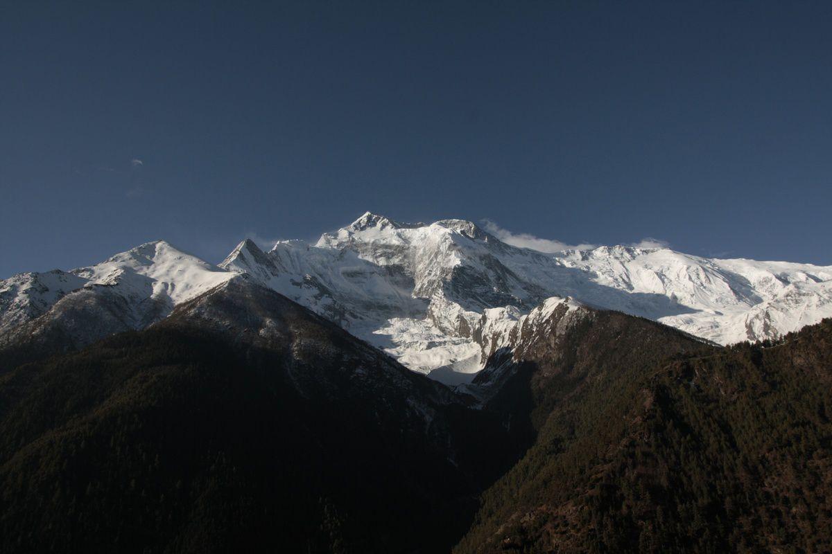 La vue d'Upper Pisang au réveil
