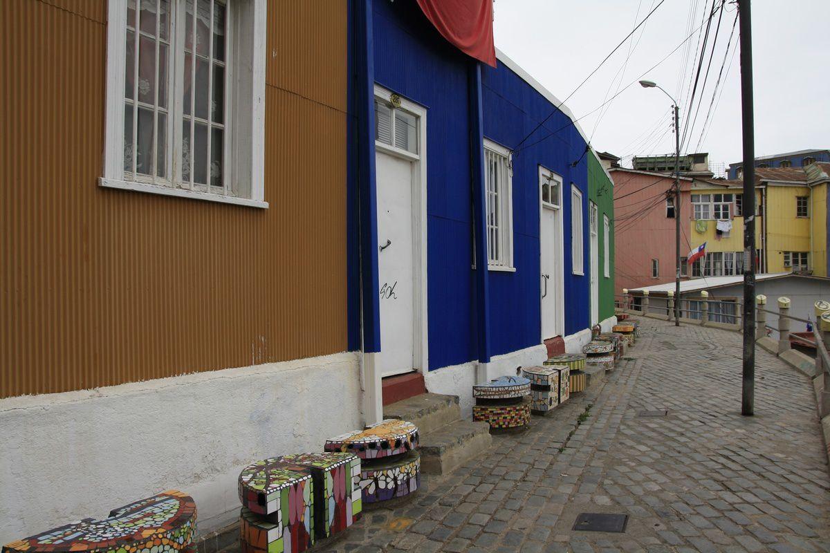 Les maisons toujours aussi colorées