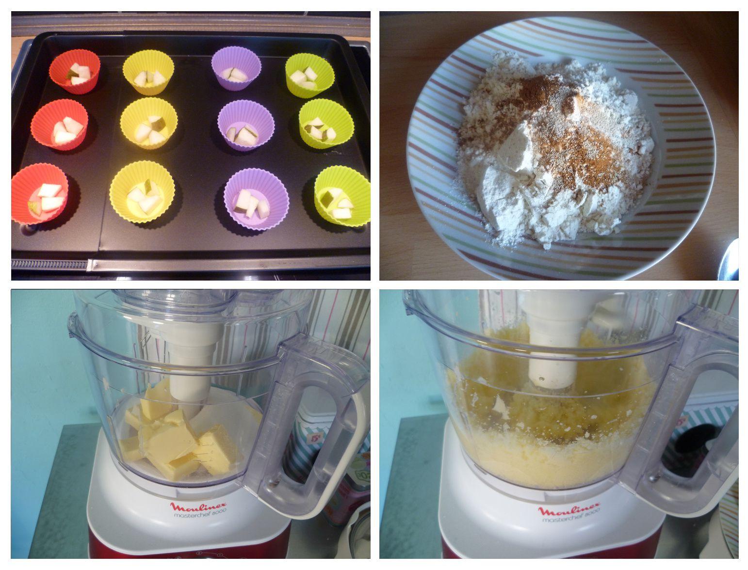 Cupcakes aux poires et glaçage crème au beurre à la vanille