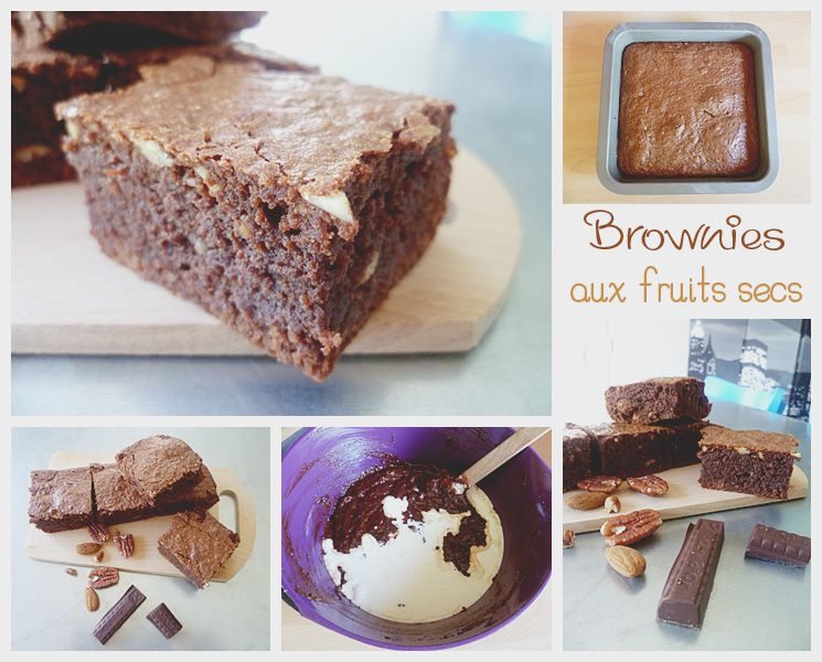 Brownies au chocolat et fruits secs