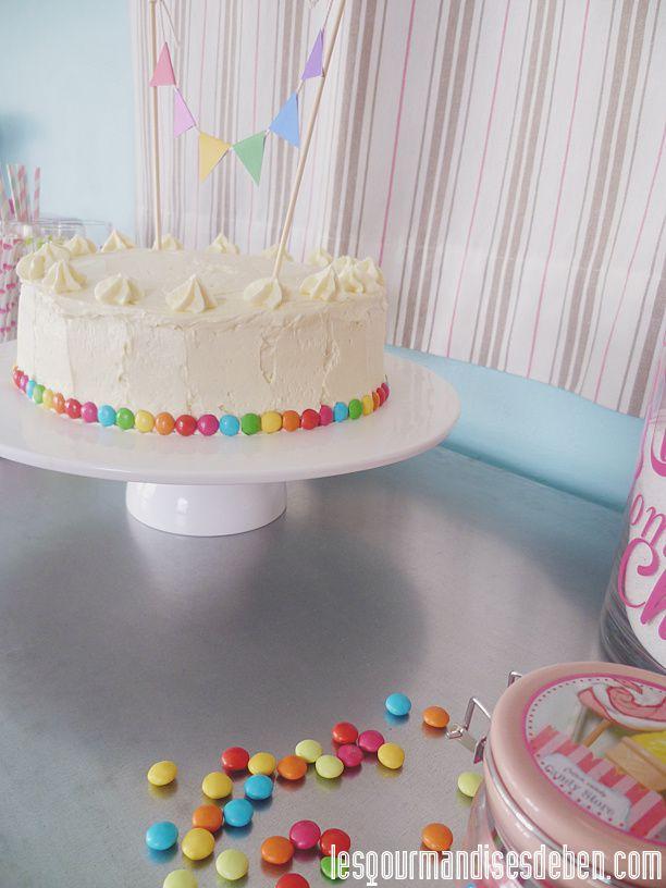 Rainbow Cake (génoise et crème au beurre vanillée)