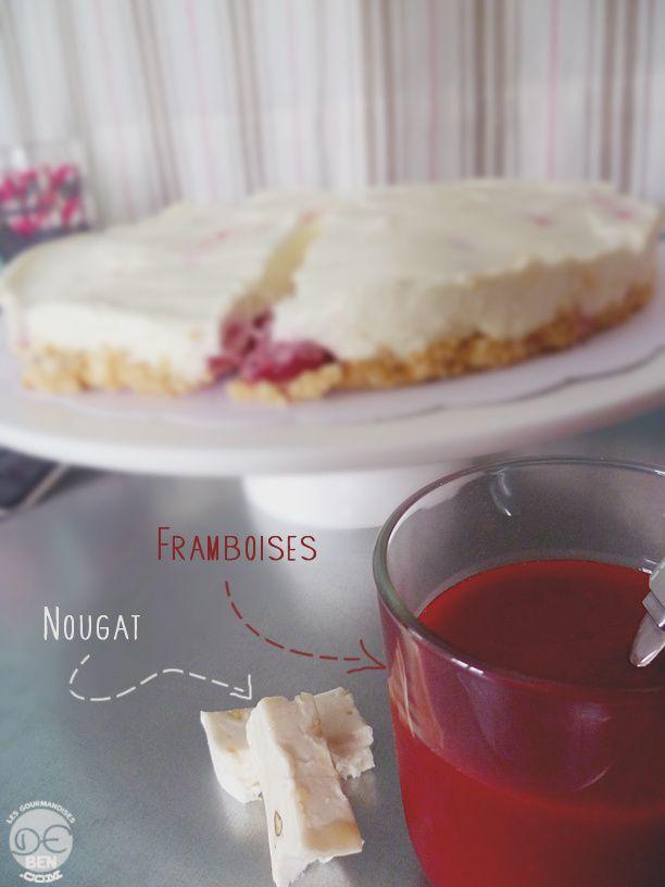 Cheesecake nougat-framboises