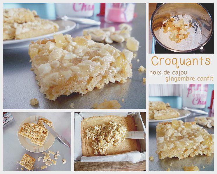 Croquants noix de cajou et gingembre confit