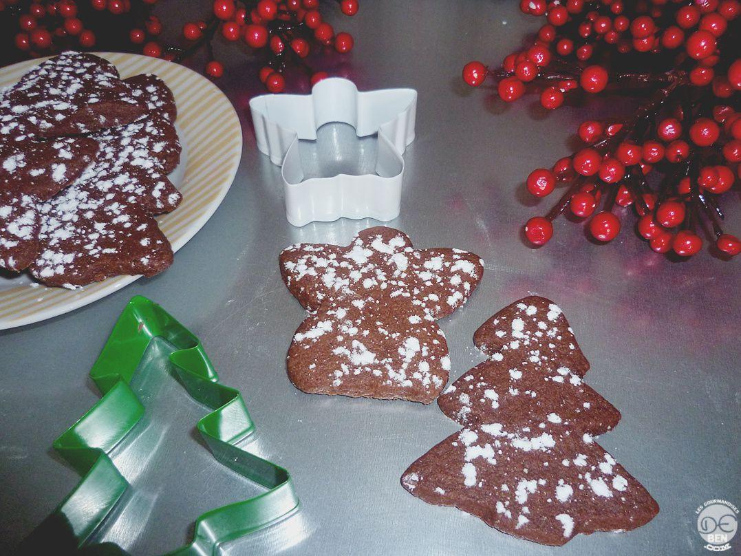 Sablés de Noël au cacao