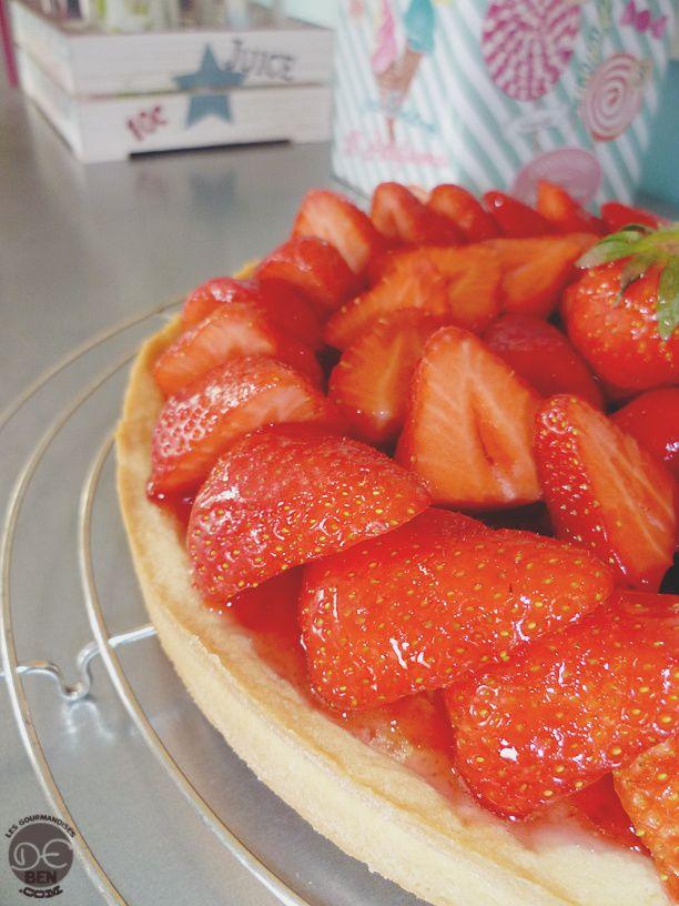 Tarte frangipane aux fraises