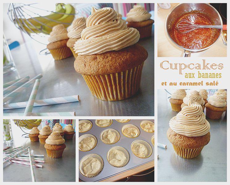Cupcakes bananes et caramel salé