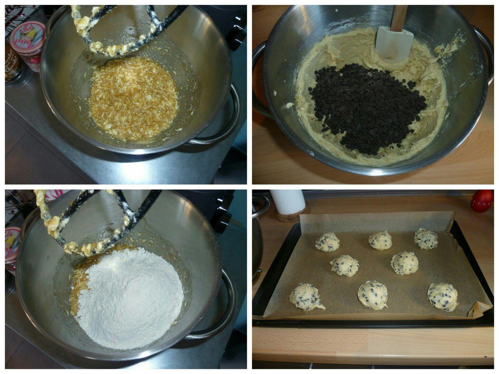 Cookies chocolat banane
