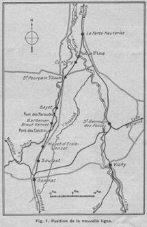 Tracé de la ligne La Ferté/Gannat