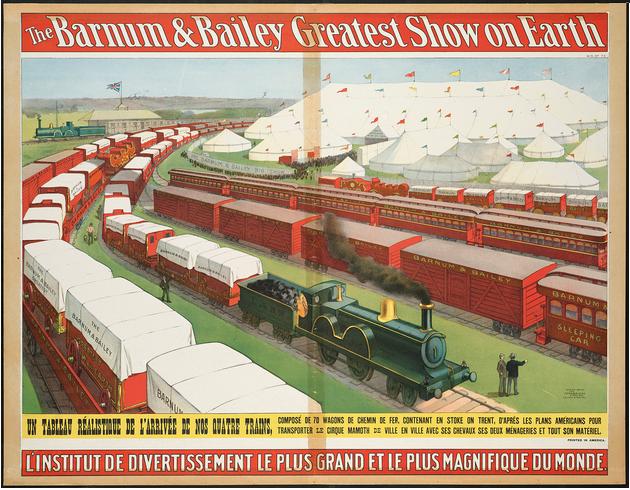 1902, Barnum, le plus grand spectacle sur terre se produit à Moulins pour la première et dernière fois