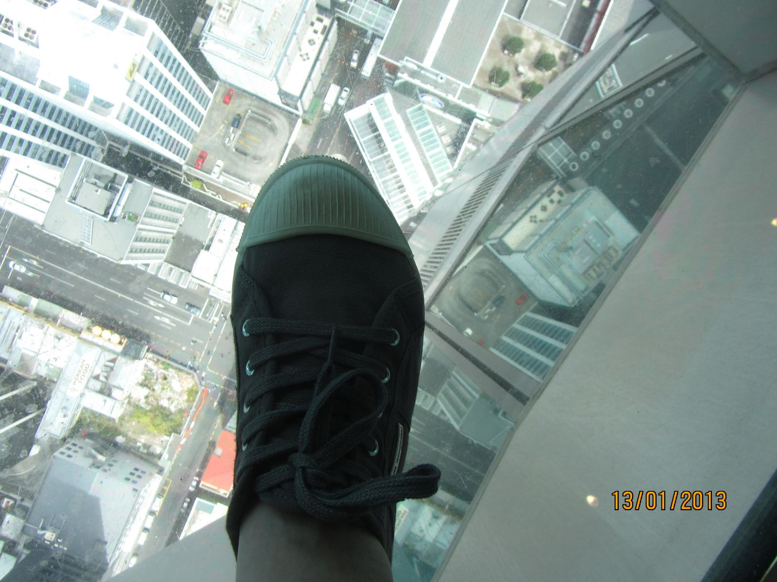 What a view! What a foot!