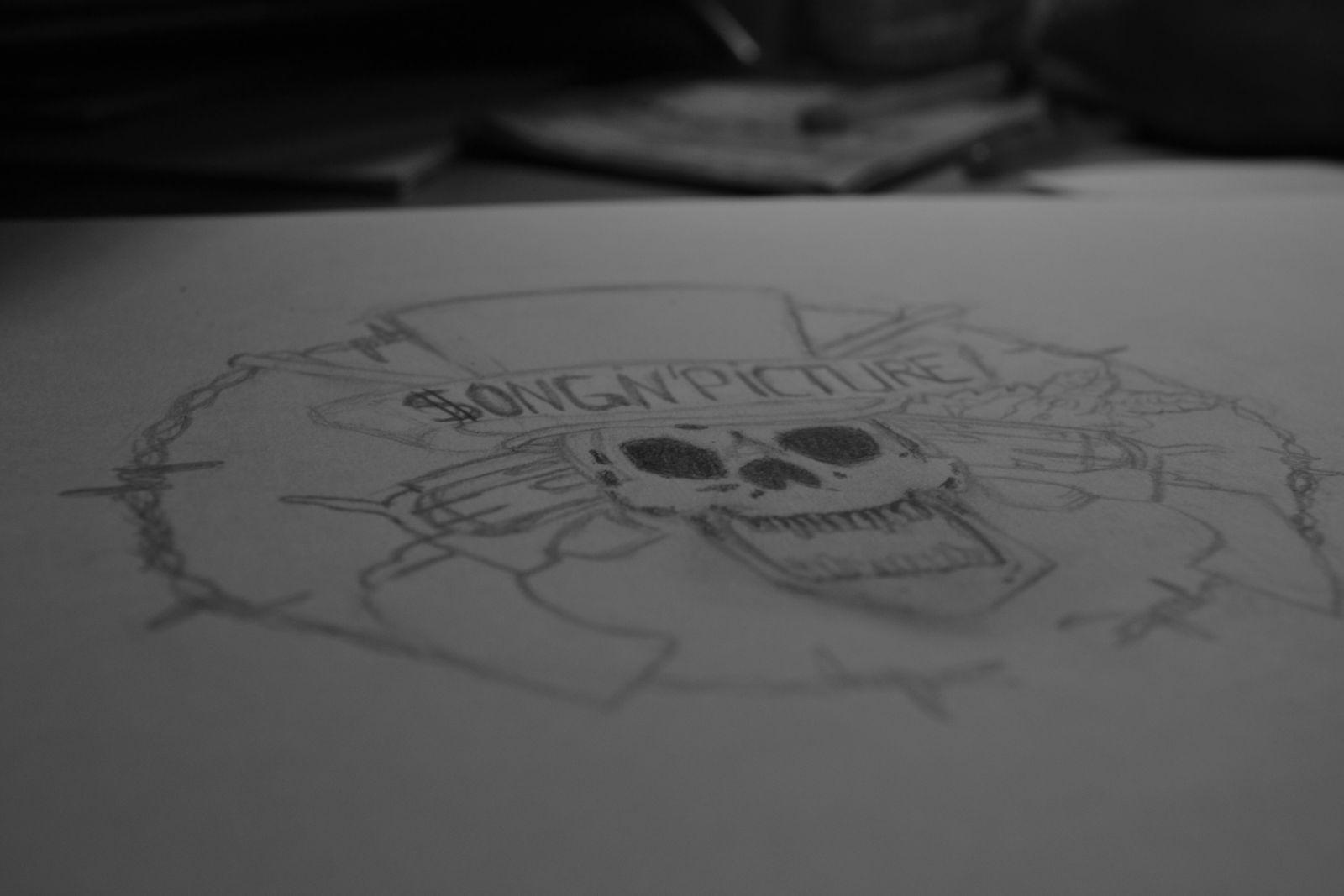 Le logo enfin fini!! Et comme toujours j'ai pris le logo de Guns'N Roses et je l'ai personnalisée!!